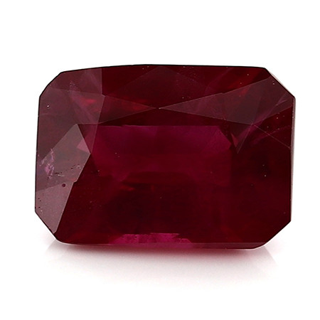 0.95 Carat Emerald Cut Ruby: Pigeon Blood Red