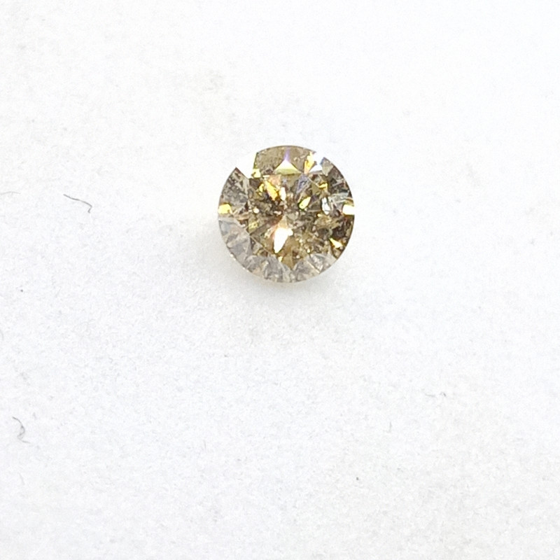 0.17ct Light Yellow  Diamond , 100% Natural Untreate