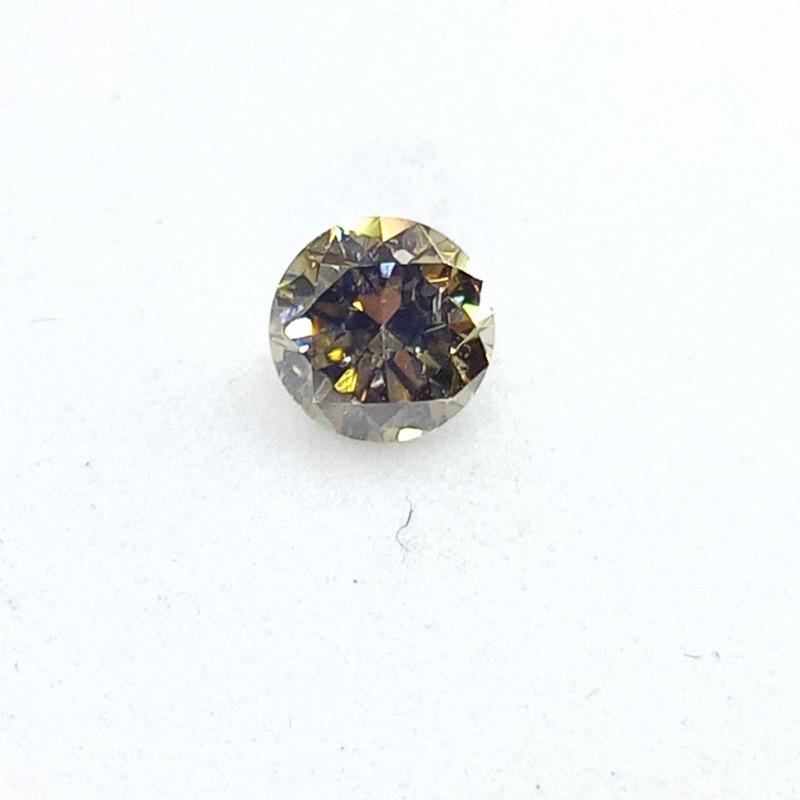 0.20ct Fancy Deep Brownish Green  Diamond , 100% Natural Untreate