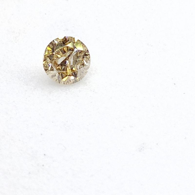 0.13ct Light Yellow  Diamond , 100% Natural Untreate