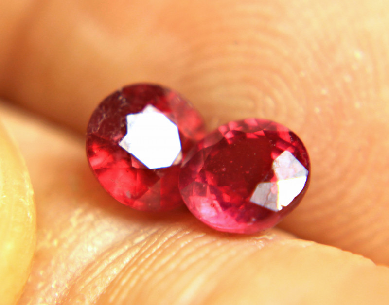 2.16 Tcw. Matched Ruby Pair - Gorgeous