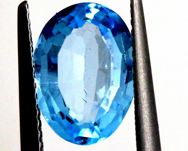 3.80 -  CTS  NATURAL BLUE TOPAZ FACETED  BG-485