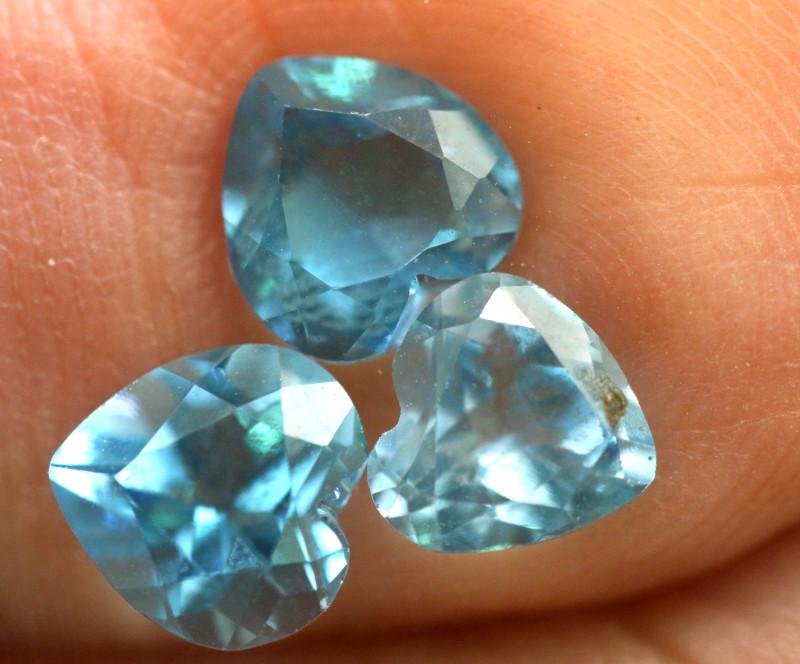 2.65-  CTS  NATURAL BLUE TOPAZ FACETED PARCEL  BG-490