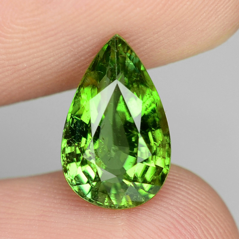 2.10 Cts Untreated Copper Bearing Green Color Natural Paraiba Tourmaline