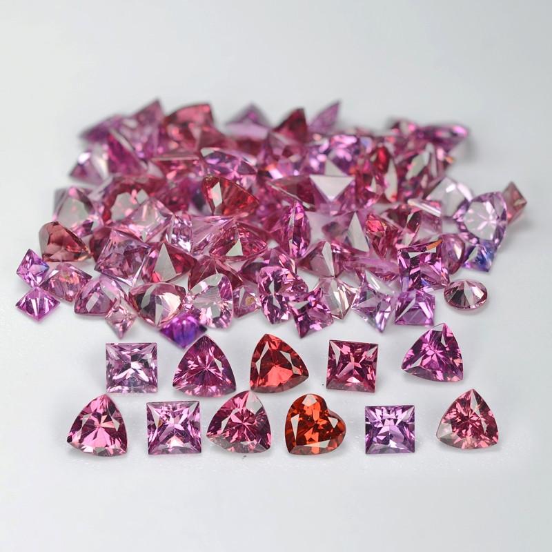 20.20 Cts 94pcs Un Heated  Pink Color Natural Tourmaline Gemstone