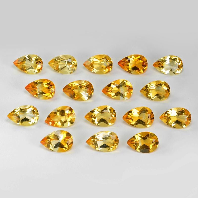 20.36  Cts 17pcs Excellent Rare Golden Yellow Color Natural Citrine Gemston