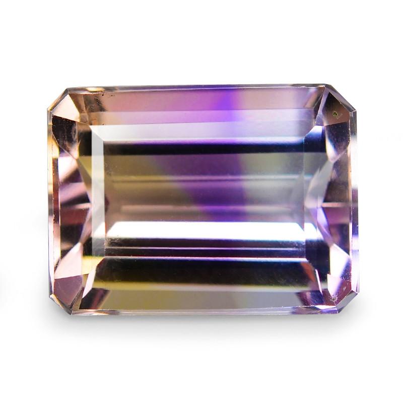 6.76 Cts Excellent Sparkling Bi Color Natural Ametrine Gemstone