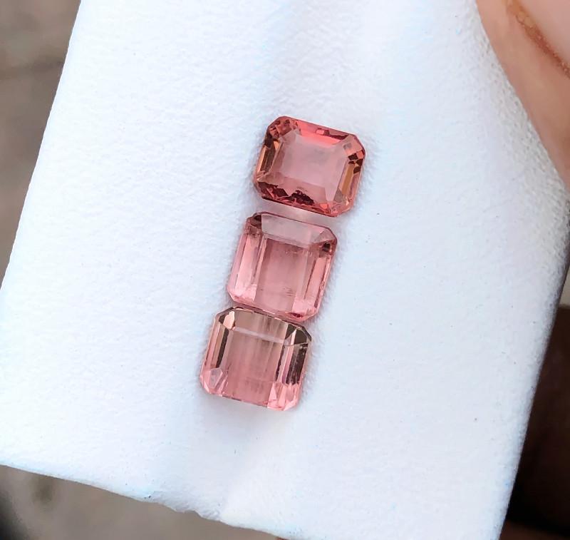 3.20 Ct Natural Rubellite Transparent Tourmaline Gems Parcels