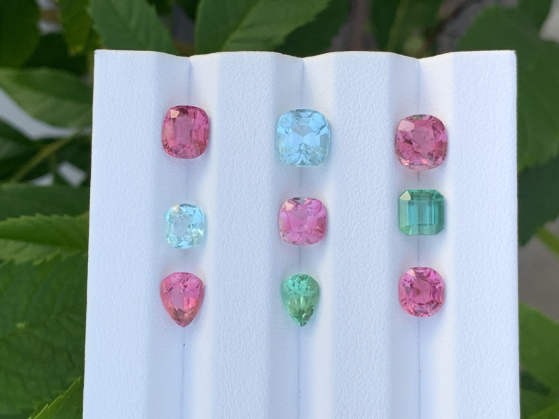 11.37 Carats Natural Color Tourmaline Gemstone Parcels From AFGHANISTAN