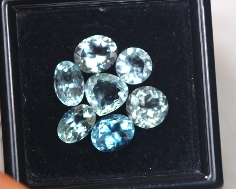 3.95ct Blue Aquamarine Mixed Cut Lot P111