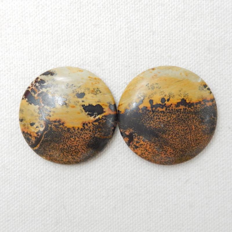 136cts Chohua Jasper Cabochon Pair, Chohua Jasper Beads ,jewelry making E45