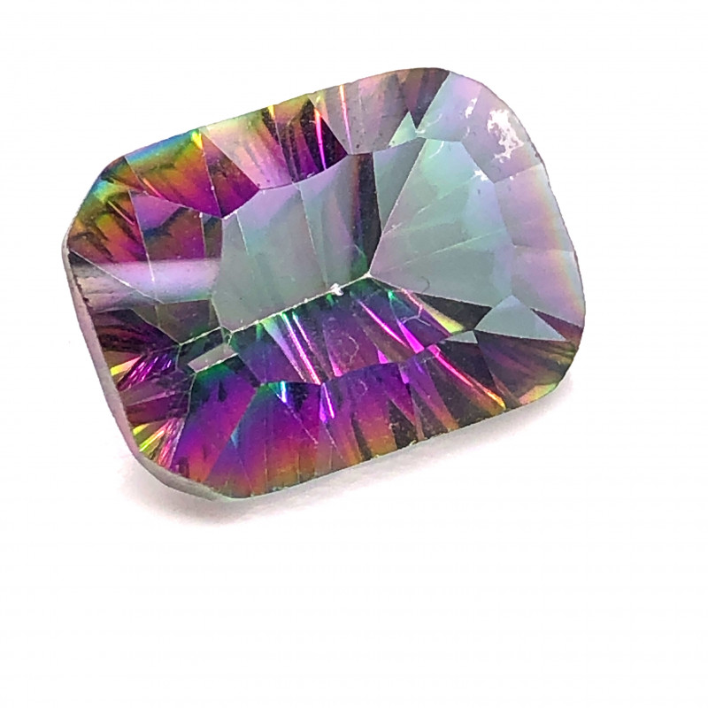 Mystic Quartz Gemstone Cushion  Cut OMR 441