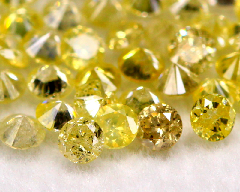 1.55Ct Natural Fancy Yellow Color Round Diamond Lot BM283