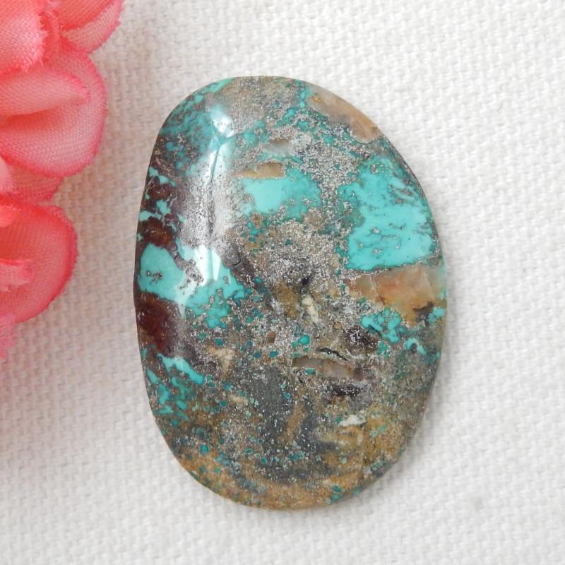 44ct Turquoise Cabochon,Lucky Turquoise Gemstone ,Healing Stone E447
