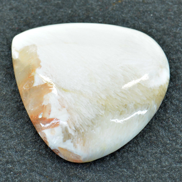 Genuine 55.00 Cts Flower Agate Cabochon