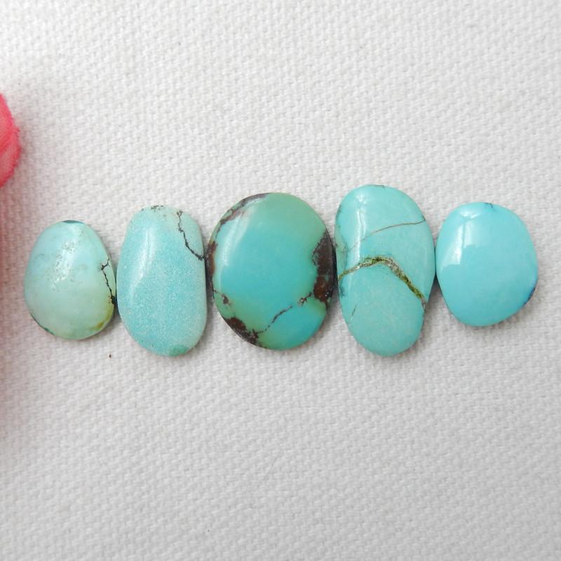 31ct Turquoise Cabochons,Lucky Turquoise Gemstone ,Healing Stone E461