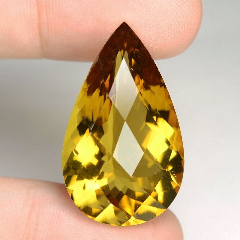 37.72 Cts  Excellent rare Fancy Yellow Color Prasolite Natural Gemstone