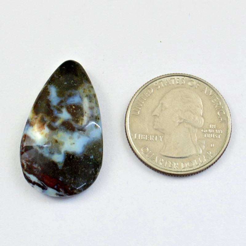 Genuine 30.00 Cts Flower Agate Cabochon