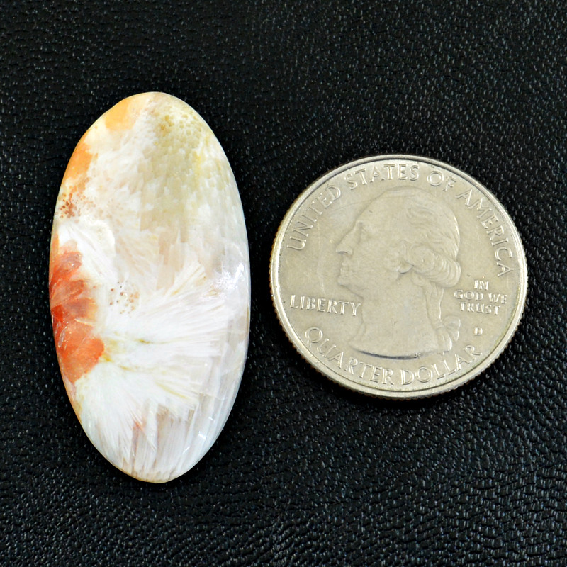 Genuine 25.00 Cts Flower Agate Cabochon