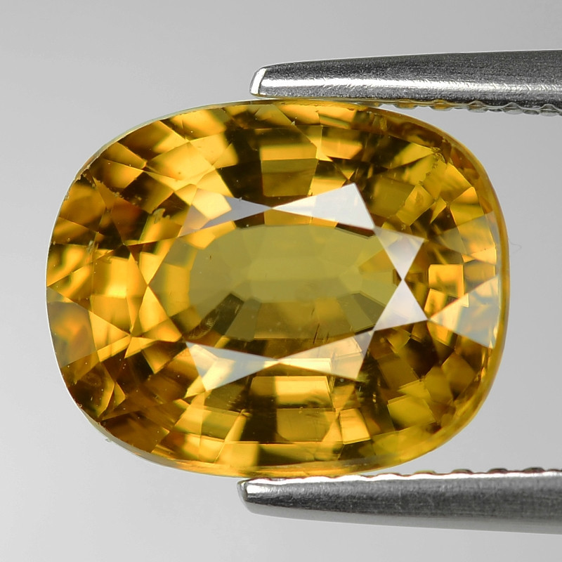 6.34 Cts Fancy Champagne Yellow Zircon Natural Loose Gemstone
