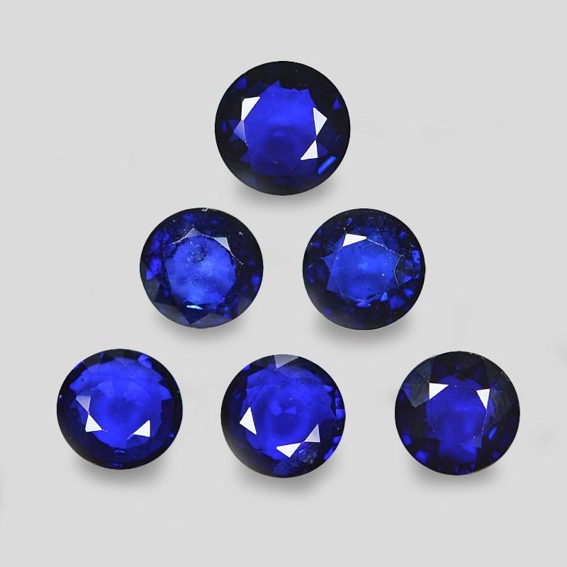 5.21 Cts 6pcs Natural Blue Ceylon Sapphire Loose Gemstone