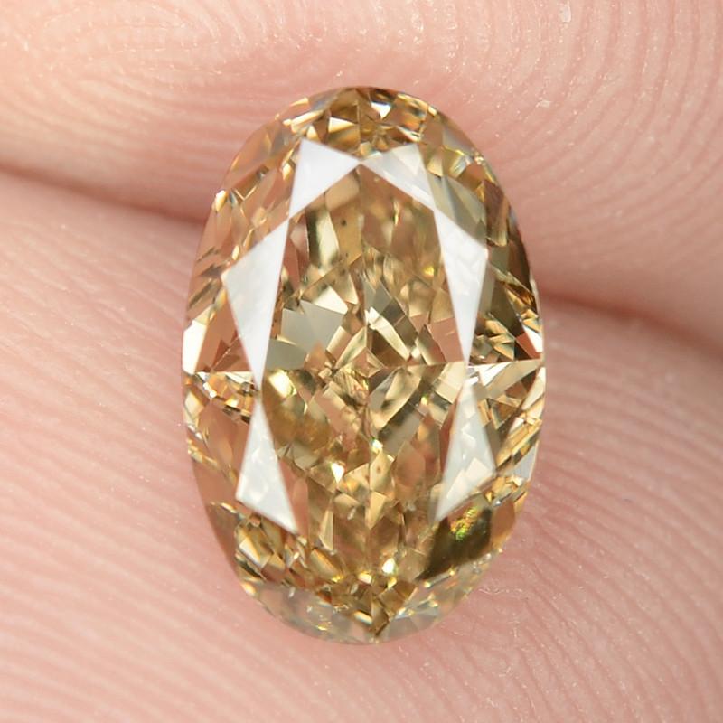 1.30 Untreated Fancy Intense Vivid Brownish Orange Natural Loose Diamond-SI