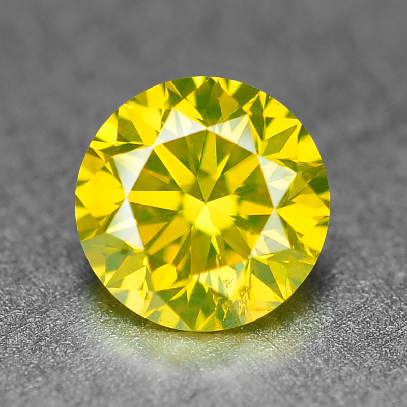 0.37  Ct Sparkling Fancy Parrot Green Natural Loose Diamond -Si1