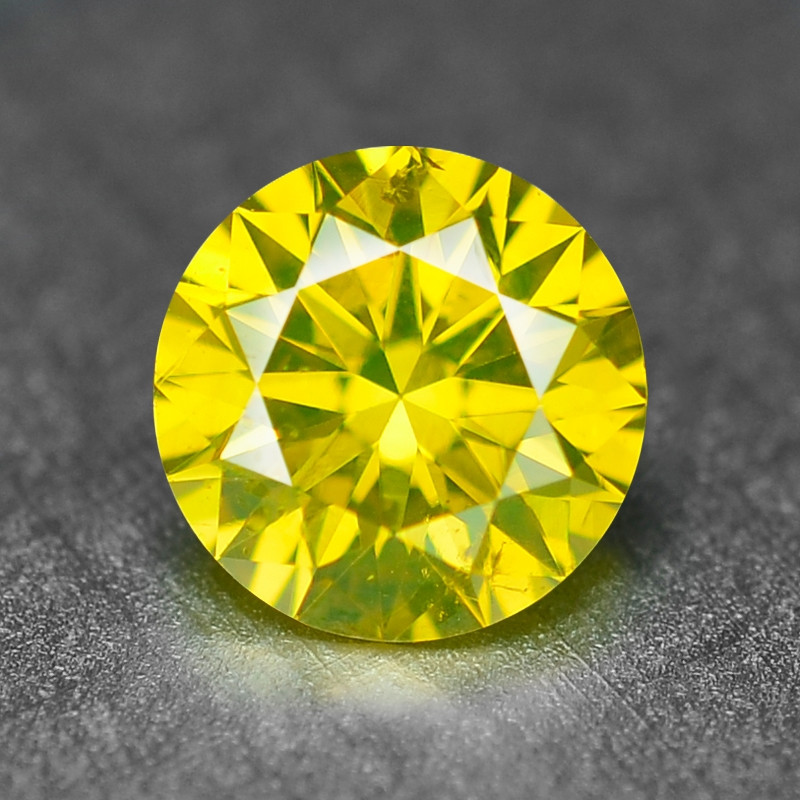 0.34 Ct Sparkling Fancy Parrot Green Natural Loose Diamond -Si1