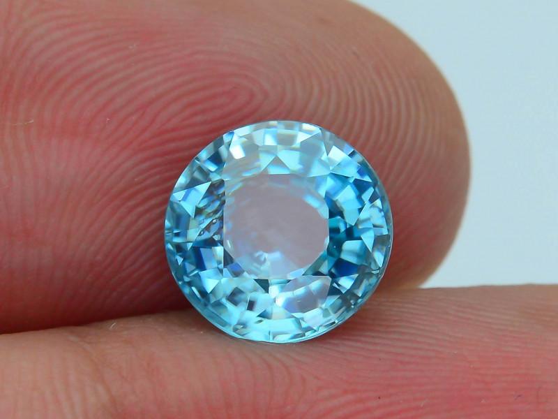 AAA Grade 3.46 ct Blue Zircon Cambodia SKU.7