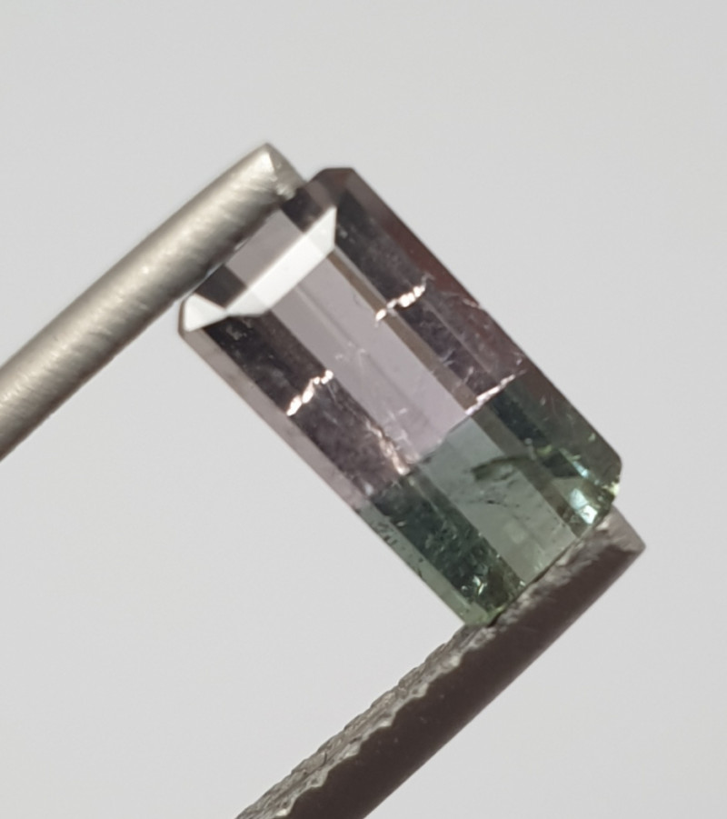 1.5ct Bicolor  Watermelon Tourmaline Octagon From Brazil(SKU 89)