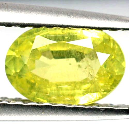 1.04 Cts Natural Lime Green Chrysoberyl Oval Cut Sri Lanka
