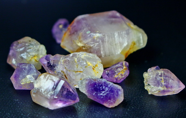 248.80 CT Unheated ~ Natural Purple color Amethyst Crystal Lot