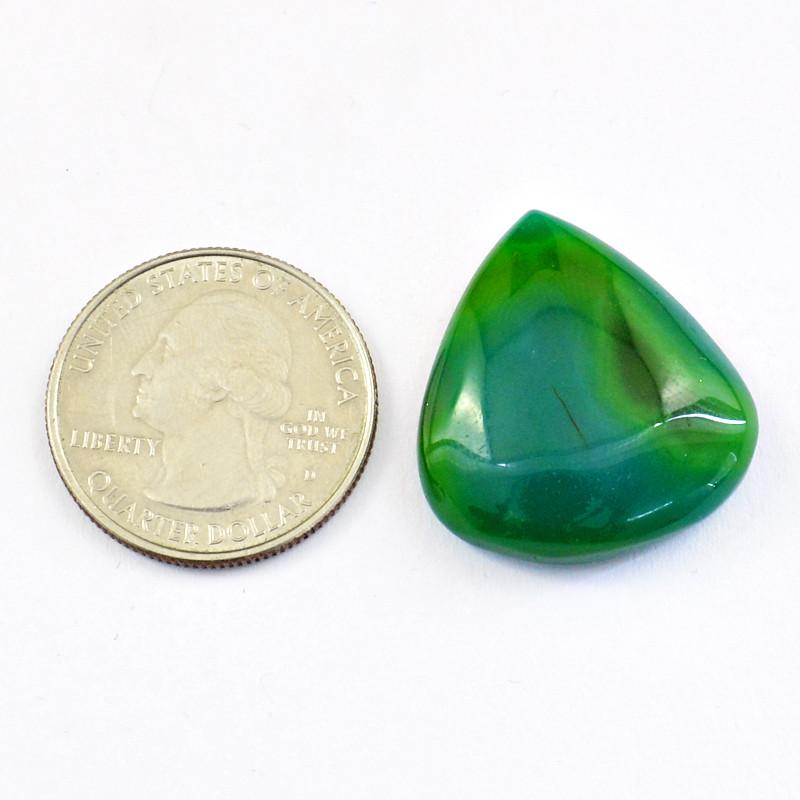 Genuine 35.00 Cts Green Onyx Cabochon