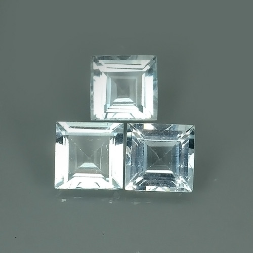 2.65 CTS ATTRACTIVE NATURAL TOP GRADE LUSTER ~BLUE AQUAMARINE 3 PCS
