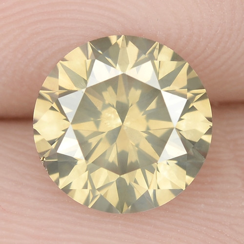 1.63 Cts Untreated Fancy Brownish Yellow Natural Loose Diamond-Si1
