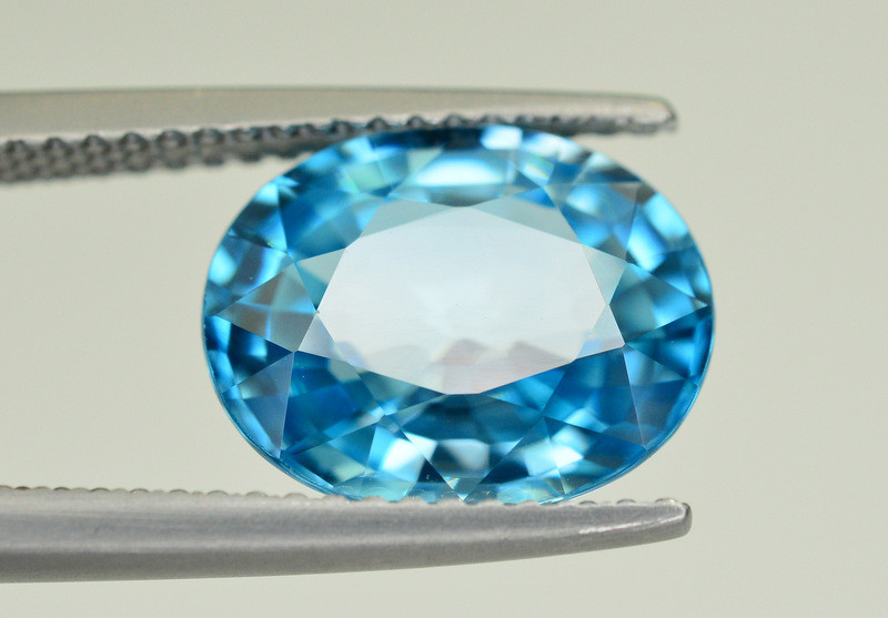 Vibrant Blue ~ 5.65 Ct Natural Zircon From Cambodia