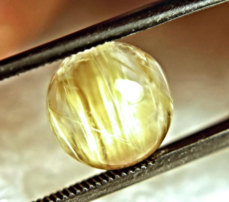 Golden Rutile quartz Cabochon Round Faceted cabs 3x3 mm Natural Rutile Quartz Gemstones multi-quantity 2 pcs 5 pcs 10 pcs 15 pcs 20 pcs