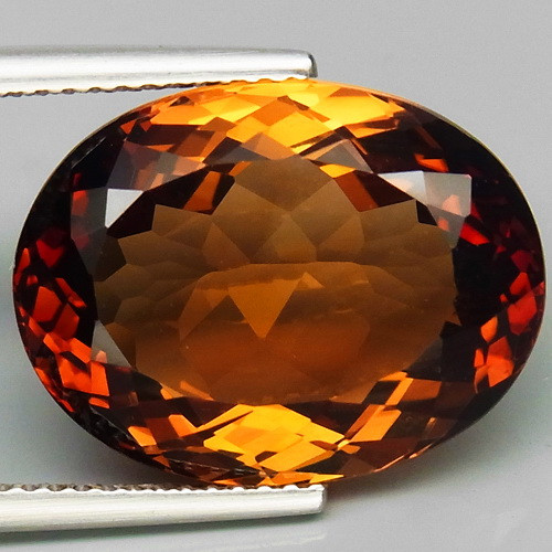 16.35  ct. 100% Natural Topaz Orangey Brown Brazil