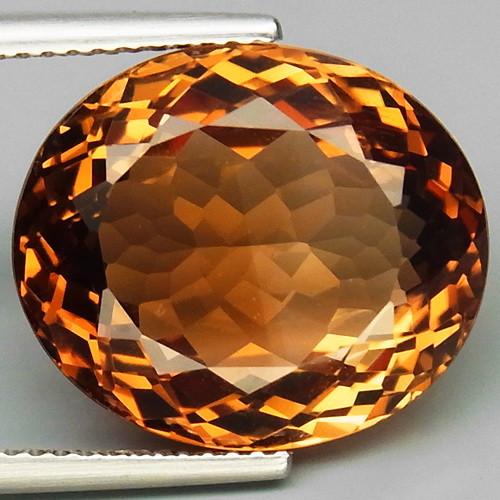 18.59 ct. 100% Natural Topaz Orangey Brown Brazil