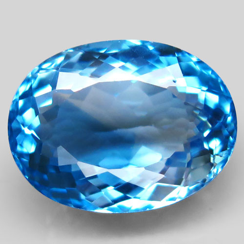 23.03 ct. Natural Swiss Blue Topaz Top Quality Gemstone Brazil