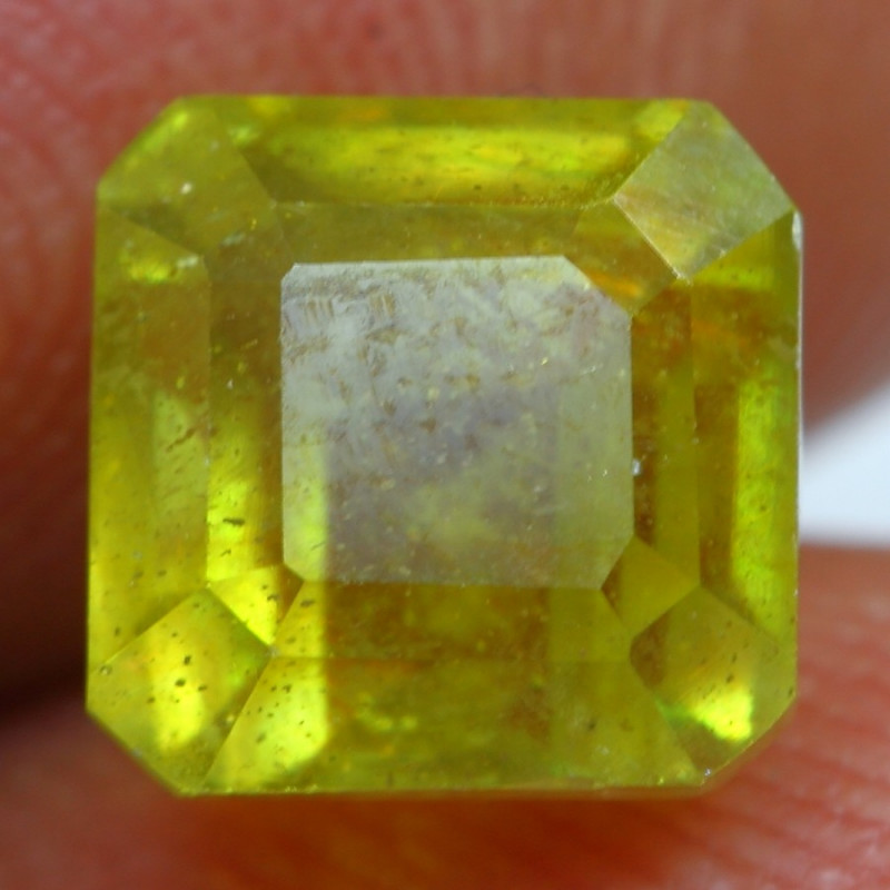 3.40cts Golden Yellow Ruby Gemstone