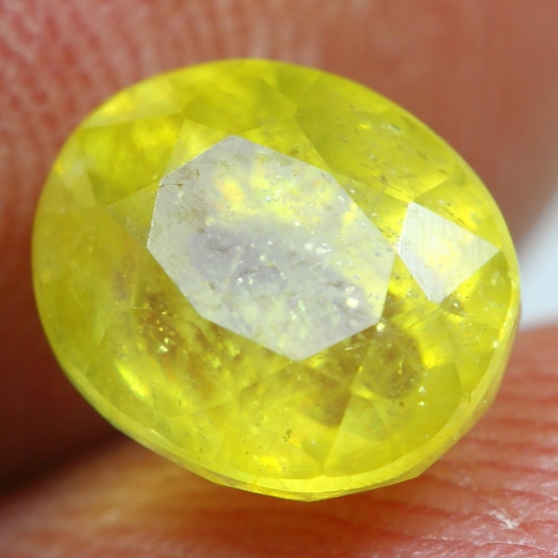 3.10cts Sparkle Golden Yellow Ruby Gemstone