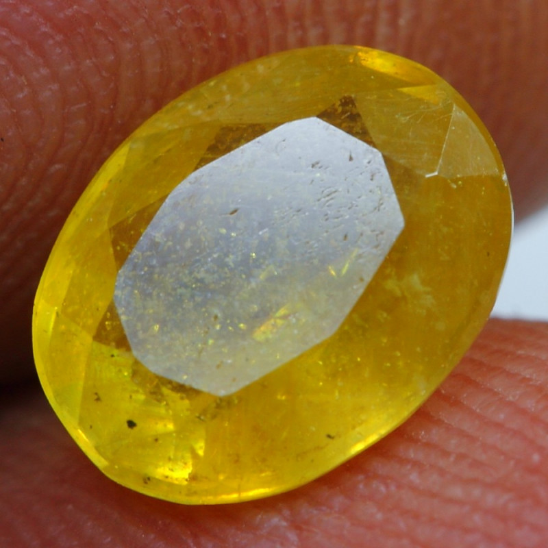 2.40cts Golden Yellow Ruby Gemstone