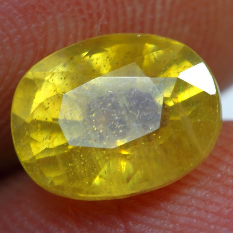 2.65cts Sparkle Golden Yellow Ruby Gemstone