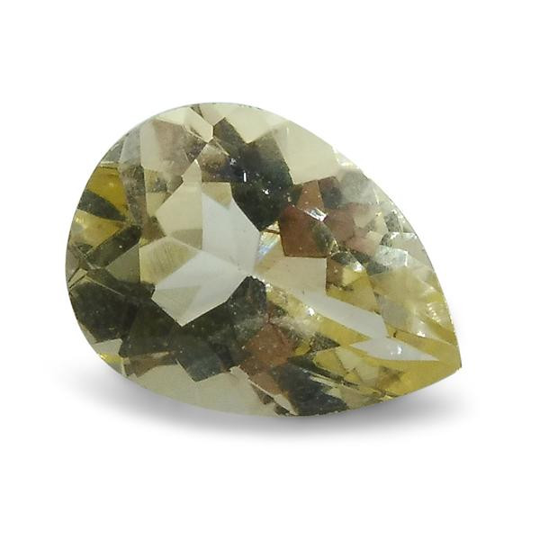 0.98 ct Heliodor 8x6mm Pear-$1 No Reserve Auction, Free Shipping