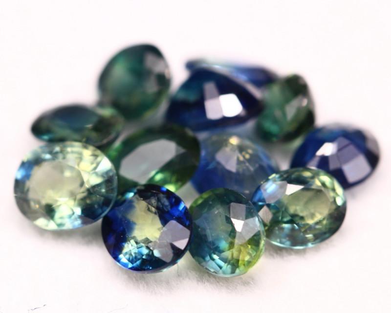 Sapphire 4.76Ct Natural Blue Parti Color Sapphire Lot A1404