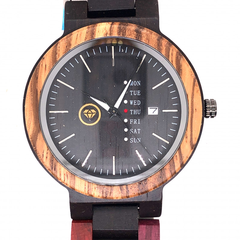 Colorful Wood Treasures Eco Friendly Bamboo watch WO 118