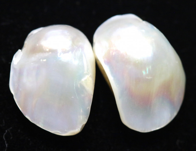 8 CTS  NATURAL FRESH WATER PEARL BEADS (2 PCS )   AS-225