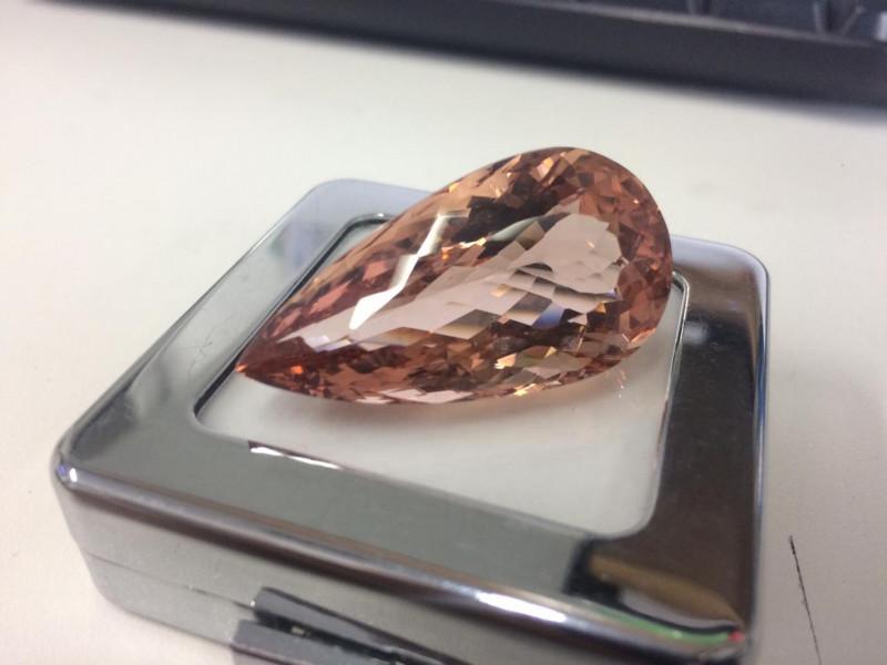 63.55 Carat Very High Sparkling Peach Color Natural Morganite Gemstone