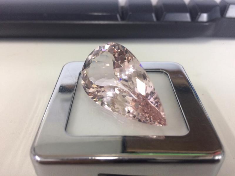 54.98 Carat Very Rare Sparkling Light Pink Color Morganite Gemstone